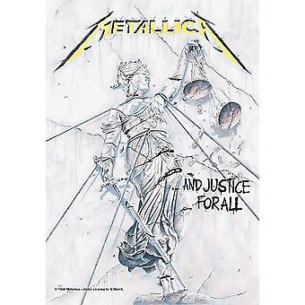 Metallica And Justice For All large fabric poster/ flag 1100mm x 750mm  (hr)