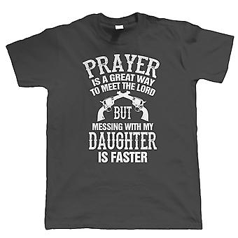 Vectorbomb, Meet The Lord, Mess With My Daughter, Mens Funny T Shirt (S to 5XL)