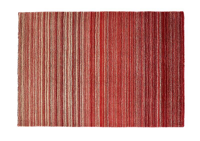 Fine Stripe Red  Rectangle Rugs Plain/Nearly Plain Rugs