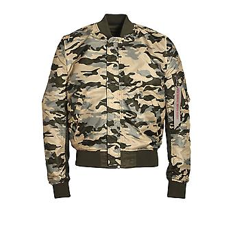 ALPHA INDUSTRIES MA-1 Reversible Camo-Bomber-Jacke | Rep-grau