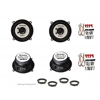 Mazda 2, speaker boxes, door front and rear, PG audio