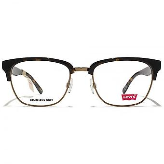Levis Square Clubmaster Style Glasses In Tortoiseshell