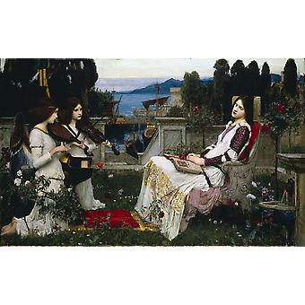 John William Waterhouse - Saint Cecilia Poster Print Giclee