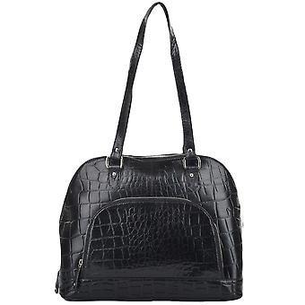 Ashwood Medium Leather Shoulder Shopper Bag - 13-160 Blk/croc