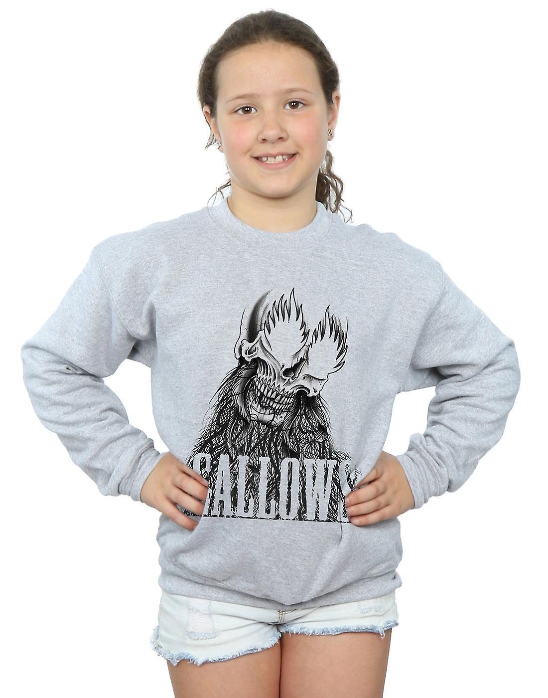 Gallows Girls noir Skull Sweatshirt