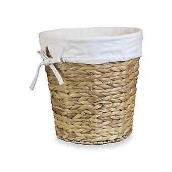 Water Hyacinth Lined Waste Paper Bin