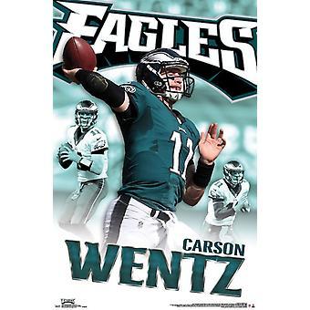 Philadelphia Eagles - Carson-Wentz 16-Plakat-Druck
