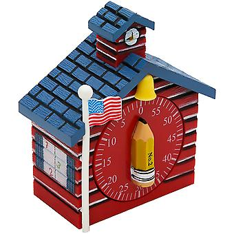 Schoolhouse Timer 1/Pkg-Blue/Red 77062