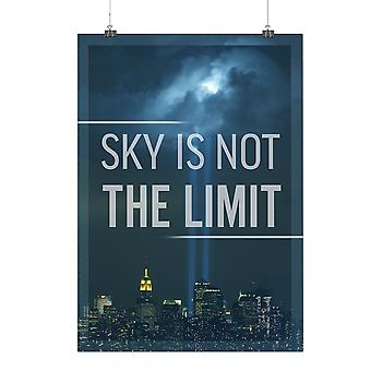 Matte or Glossy Poster with Sky Limit Urban Ray City | Wellcoda | *q20