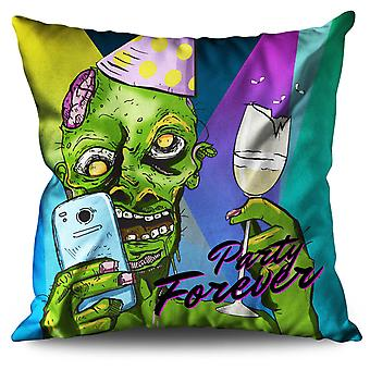 Party Forever Linen Cushion Party Forever | Wellcoda