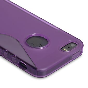 Caseflex Iphone SE S-Line Gel Case - Purple