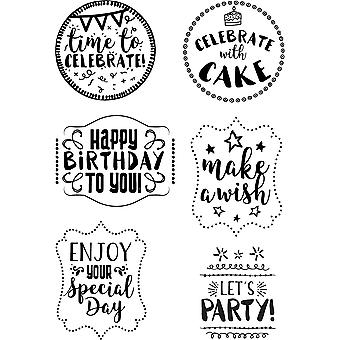 Elizabeth Crafts Clear Stamps-Birthday Sentiments CS068
