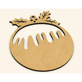 SALE - Wooden Christmas Pudding Bauble Shape to Decorate
