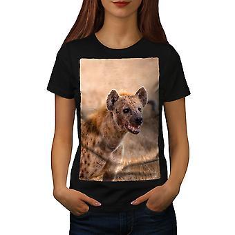 Laughing Hyena Women BlackT-shirt | Wellcoda