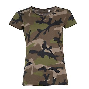 SOLS Womens/dames Camo Short Sleeve T-Shirt