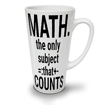 Math Slogan neuer weißer Tee Kaffee Keramik Latte Becher 17 oz   Wellcoda