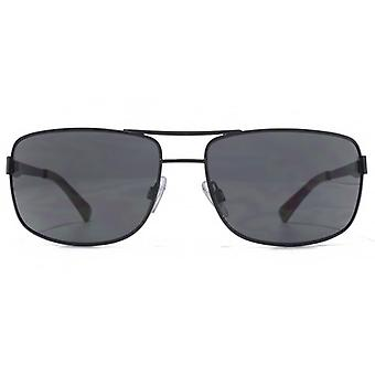 American Freshman Metal Rectangle Pilot Sunglasses In Matte Black