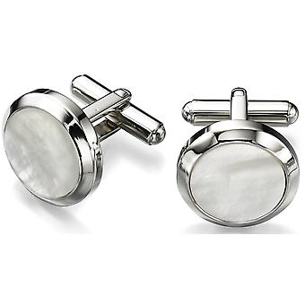 Stainless Steel Mother Of Pearl Fashionable Cufflink