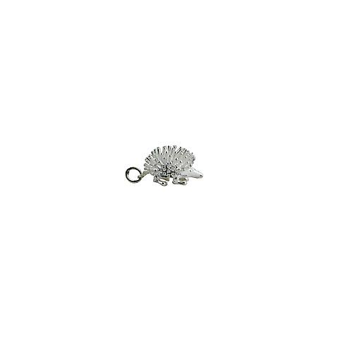 Silver 12x21mm Hedgehog Charm or Pendant