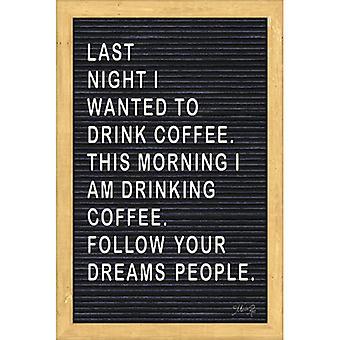 Follow Your Dreams Felt Board Poster Print by Marla Rae (12 x 18)