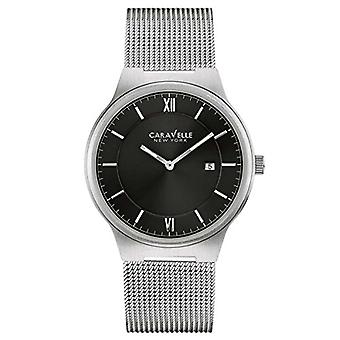 Caravelle 43B145 mænds New York Black Dial rustfrit stål Mesh armbånd Watch