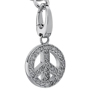Burgmeister charm peace sign JBM1069-621, 925 sterling silver rhodanized