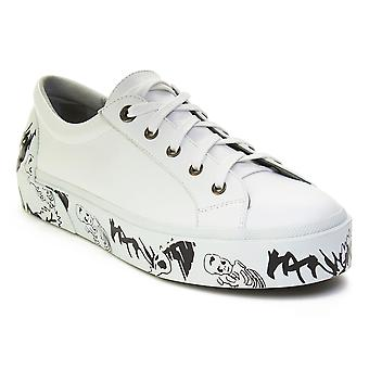 Lanvin mäns läder Graffiti-Sole Derby Sneaker skor vit