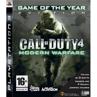 Call of Duty 4 Modern Warfare - spel of the Year 2009 Edition (PS3)