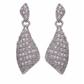 Orphelia Silver 925 Drop Earring Pave In lijnen zirkonium 112 stenen ZO-5884