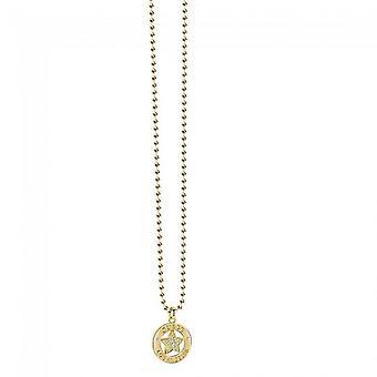 Antar att damer kedja halsband rostfritt stål guld UBN21606