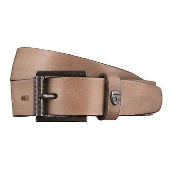 Strellson belts men's belts leather leather belt grey 2848