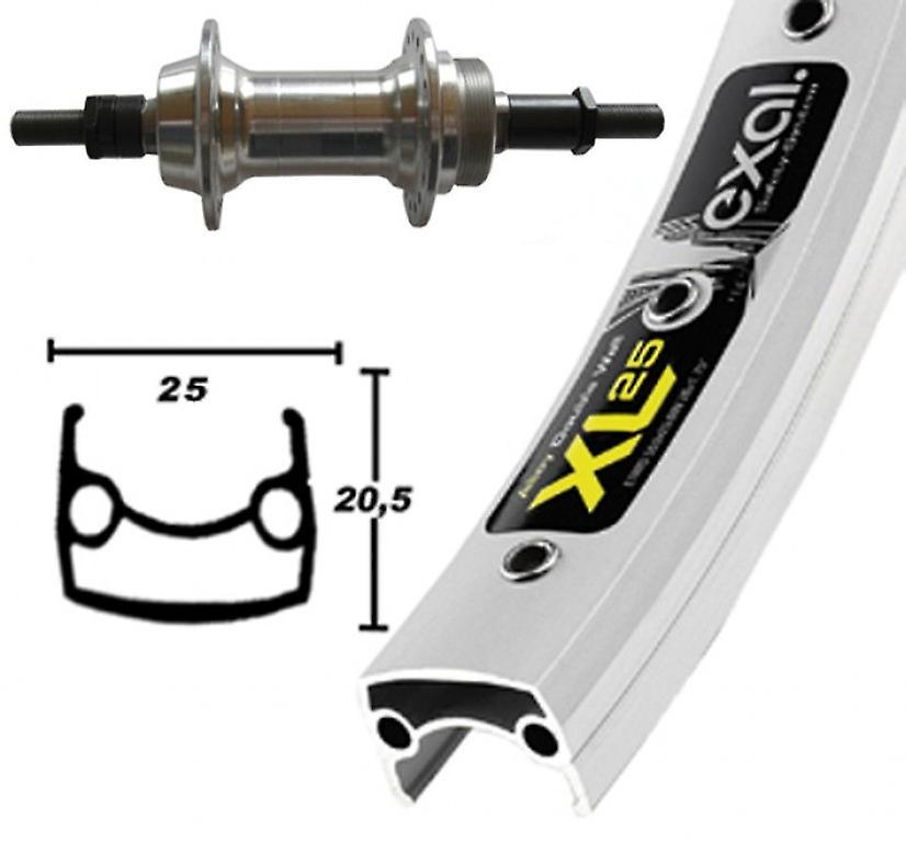 Roue de 26″ pièces vélo Exal XL 25 + vis tournent autour de 6 7 vitesses moyeu