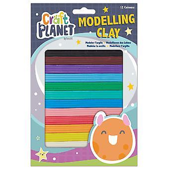 Håndværk Planet Kids modellering ler pakke med 12 farver