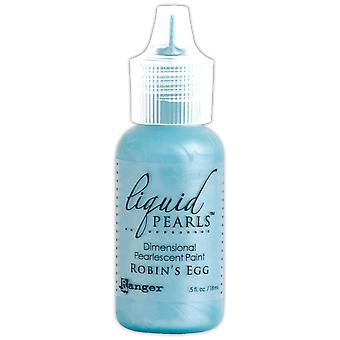 Liquid Pearls Dimensional Pearlescent Paint .5oz-Robin's Egg