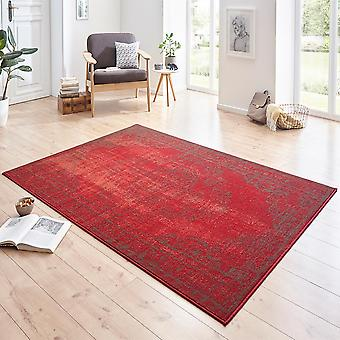 Designer velour carpet Cordelia Red