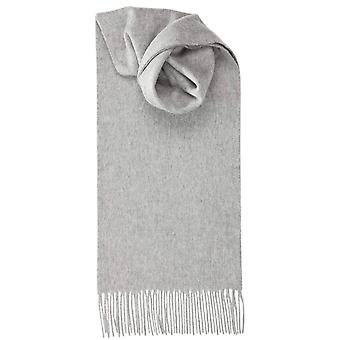 Johnstons of Elgin Lambswool Plain Scarf - Light Grey
