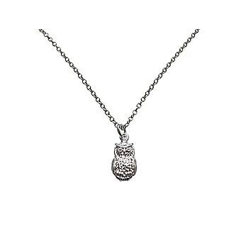 Gemshine-damer - halskæde - vedhæng - 925 sølv - eagle owl - 2 cm