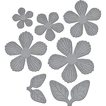 Spellbinder ponadczasowe serca serii projektanta przez Marisa pracy z teksturami kwiaty