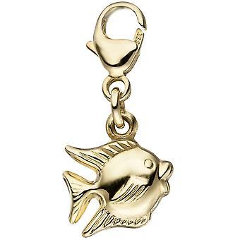 Single earrings charm fish 333 gold yellow gold pendant Goldcharm