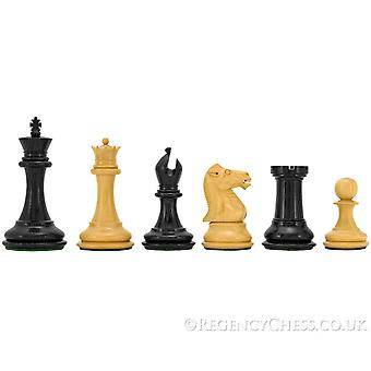 Sovereign Series Ebony and Boxwood Chessmen 3 Inches