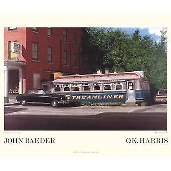 Impressão de cartaz expresso por John Baeder (24 x 20)