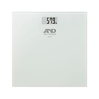 A&D Medical UC502 Glass Topped Precision Health Digital Bathroom Scale