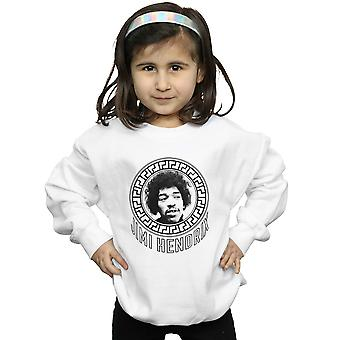 Jimi Hendrix Mädchen Muster Kreis Sweatshirt
