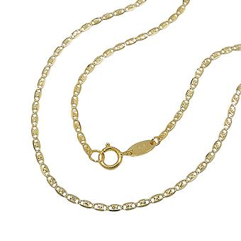 Fancy sparkling chain 45cm 9k gold