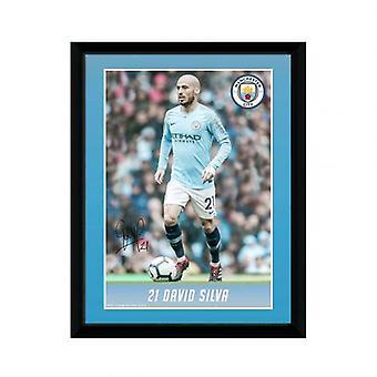 Manchester City Picture Silva 8 x 6