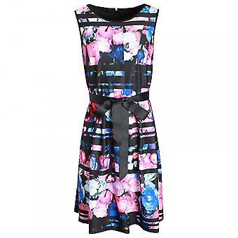 フランク ・ ライマン大胆な印刷ノースリーブ ドレス