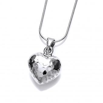 Cavendish francés verdadero amor martillado plata corazón colgante sin cadena