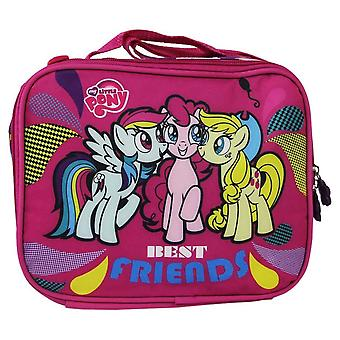My Little Pony Insulated Lunch Bag Girls School Snack Carrier Pink MLP Strap