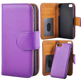 Wallet case with Removable Magnetic Shell iPhone 5/5s/SEE Purple