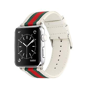 Nylon Strap voor Apple Watch 3/2/1-38 mm-wit/groen/rood